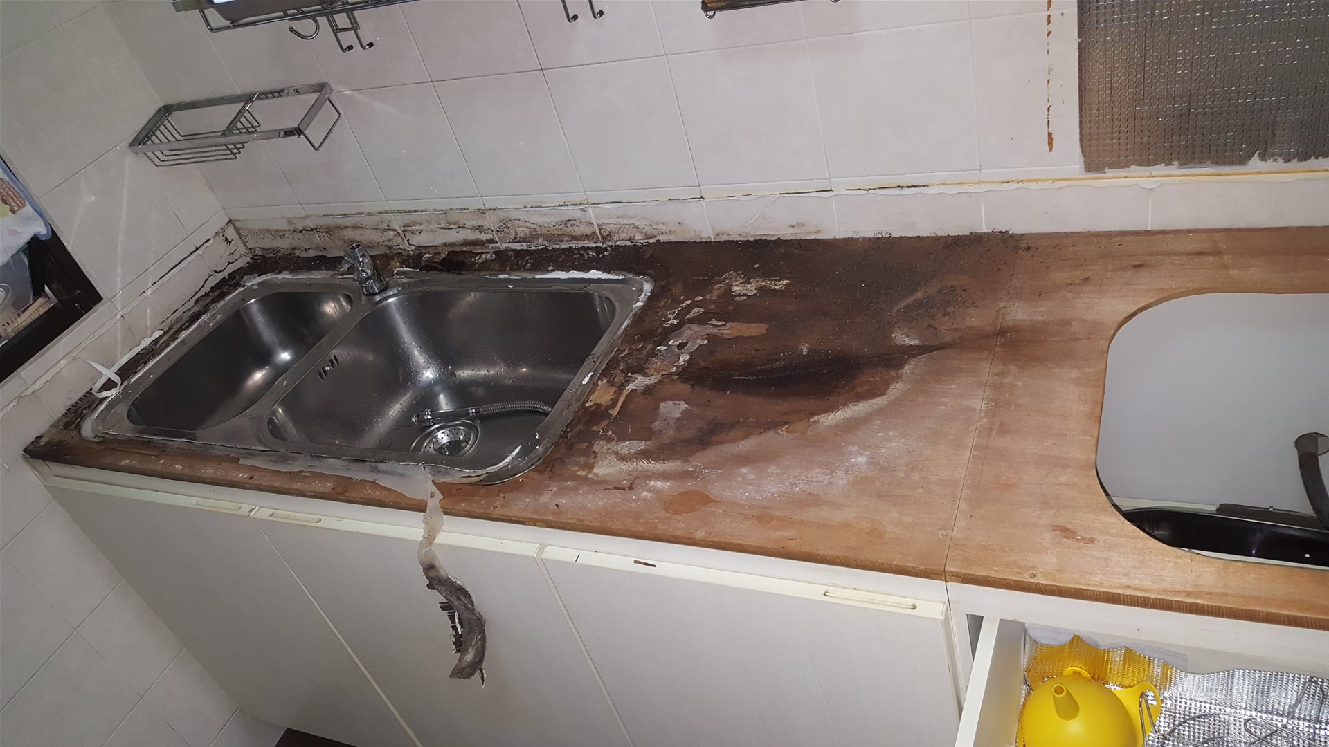 20171208_101737 - Solid Surface removed exposing the damaged timber